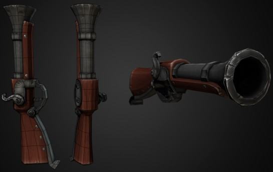 Blunderbuss Low Poly