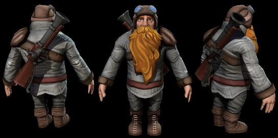 Dwarf Low Poly