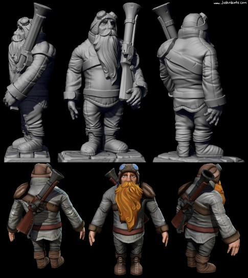 Dwarf_Sculpt and game model